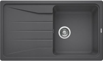 Кухонная мойка оборачиваемая с крылом, гранит, тёмная скала Blanco Sona 5 S 519672