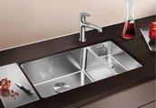 Кухонная мойка без крыла, основная чаша слева, нержавеющая сталь зеркальной полировки Blanco Andano 500/180-U 520826