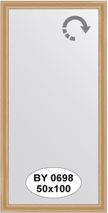 Зеркало 50x100см в багетной раме клён Evoform BY 0698