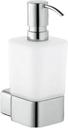 Ёмкость для жидкого мыла стеклянная с настенным хромированным держателем Kludi E2 4997605