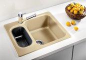 Кухонная мойка оборачиваемая 2 чаши, гранит шампань Blanco Nova 6 521374