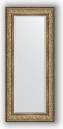 Зеркало с фацетом в багетной раме 60x140см виньетка античная бронза 109мм Evoform BY 3529