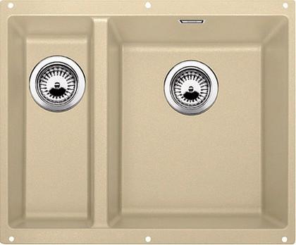 Кухонная мойка без крыла, основная чаша справа, с клапаном-автоматом, гранит, шампань Blanco Subline 340/160-U 520408