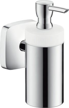 Диспенсер для жидкого мыла с хромированным держателем Hansgrohe PuraVida 41503000