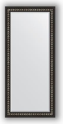 Зеркало 75x165см с фацетом 30мм в багетной раме чёрный ардеко Evoform BY 1205
