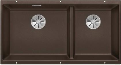 Кухонная мойка Blanco Subline 480/320-U, отводная арматура, кофе 523593