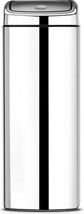 Прямоугольный мусорный бак 25л сталь полированная Brabantia Touch Bin 384905