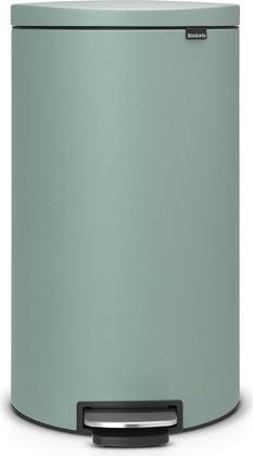 Мусорный бак с педалью 30л цвета зелёной мяты Brabantia FlatBack+ 103964