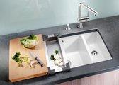 Кухонная мойка без крыла, с клапаном-автоматом, керамика, чёрный Blanco Subline 350/150-U PuraPlus 514531