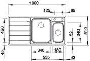 BLANCO AXIS II 6 S-IF Схема с размерами вид сверху