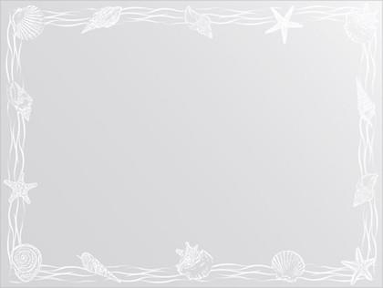 Зеркало для ванной с орнаментом 80x60см FBS CZ 0768