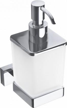 Дозатор для жидкого мыла Bemeta Plaza настенный, стекло, хром 118209049