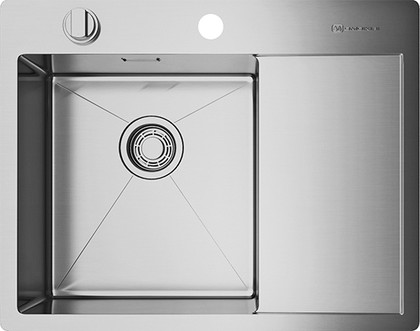 Кухонная мойка с правым крылом, нержавеющая сталь Omoikiri Kirisame 65-IN-L 4993058