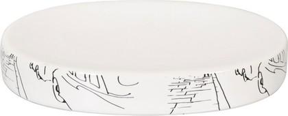 Мыльница керамическая белая Spirella Paris 4007029