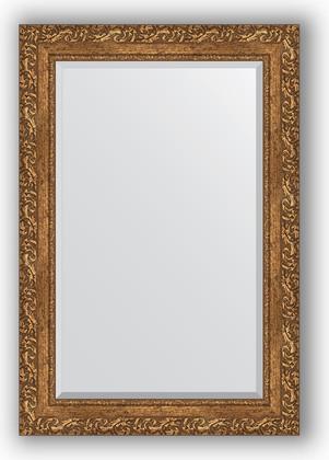 Зеркало 65x95см с фацетом 30мм в багетной раме виньетка бронзовая Evoform BY 1280