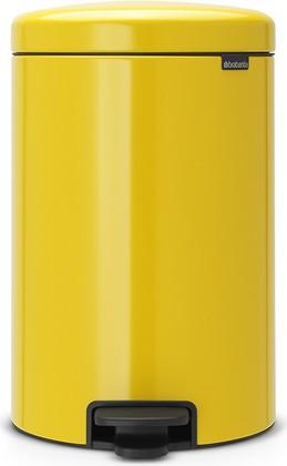 Мусорный бак с педалью 20л, желтая маргаритка Brabantia Newicon 113963