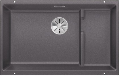Кухонная мойка Blanco Subline 700-U Level, отводная арматура, тёмная скала 523539