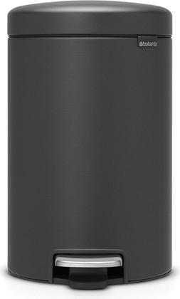 Мусорный бак с педалью 12л, минерально-графитовый Brabantia Newicon 113802