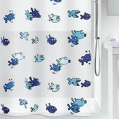 Штора для ванной Spirella Hugo, 180x200см, полиэтилен, сине-голубой 1001951