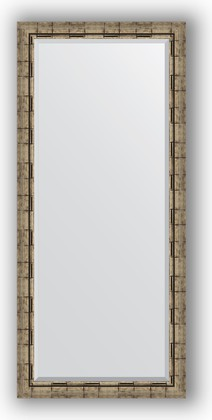 Зеркало 73x163см с фацетом 30мм в багетной раме старый бамбук Evoform BY 1206