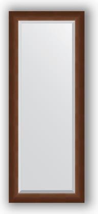 Зеркало 52x132см с фацетом 25мм в багетной раме орех Evoform BY 1157