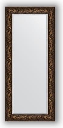 Зеркало с фацетом в багетной раме 69x159см византия бронза 99мм Evoform BY 3573