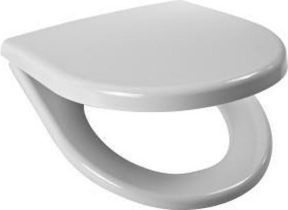 Сиденье для унитаза с крышкой, стальные петли, белое Jika Olymp 932813000639
