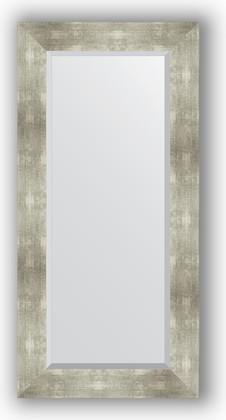 Зеркало 56x116см с фацетом 30мм в багетной раме алюминий Evoform BY 1150