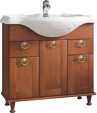 Напольный мебельный модуль 1050 x 700 x 345 для умывальника, орех Roca AMERICA ZRU9302792