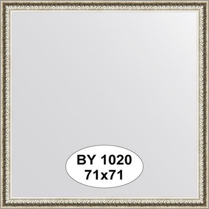Зеркало 71x71см в багетной раме мельхиор Evoform BY 1020