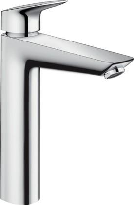 Смеситель для раковины однорычажный с донным клапаном и керамическим узлом смешивания с 2 режимами расхода воды, хром Hansgrohe Logis 71095000
