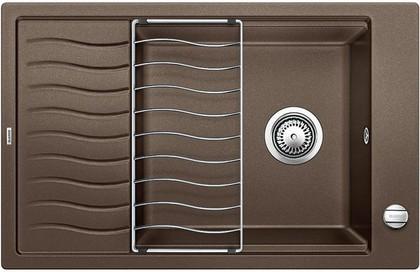 Кухонная мойка оборачиваемая с крылом, с клапаном-автоматом, гранит, кофе Blanco Elon XL 6 S 518744