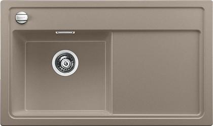 Кухонная мойка чаша слева, крыло справа, с клапаном-автоматом, гранит, серый беж Blanco ZENAR 45 S 519269