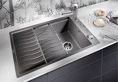 Кухонная мойка оборачиваемая с крылом, с клапаном-автоматом, гранит, алюметаллик Blanco Elon XL 6 S-F 519512