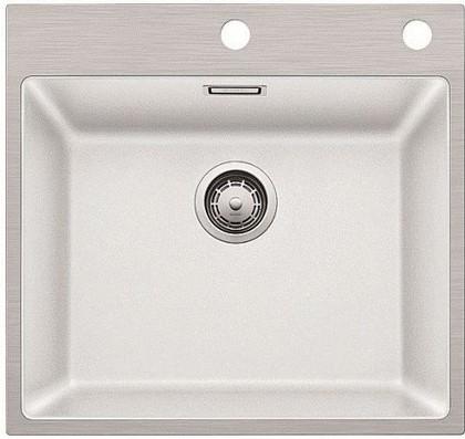 Кухонная мойка, гранит белый / нержавеющая сталь Blanco SUBLINE 500-IF/A SteelFrame 521018