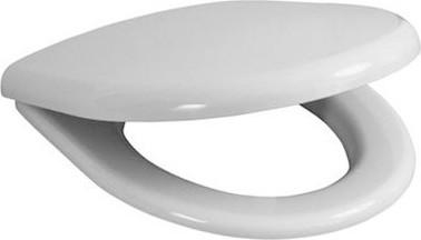 Сиденье для унитаза с крышкой, стальные петли, белое Jika Zeta 932720000631