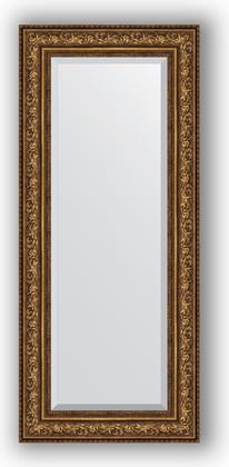 Зеркало с фацетом в багетной раме 60x140см виньетка состаренная бронза 109мм Evoform BY 3531