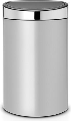 Ведро для мусора 40л, серый металлик Brabantia Touch Bin 114861