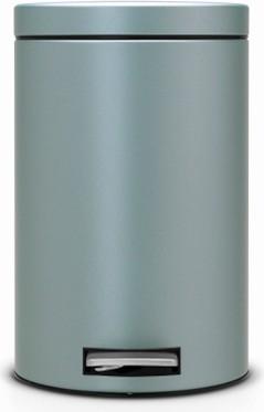 Мусорный бак с педалью 12л, мятный металлик Brabantia 106002