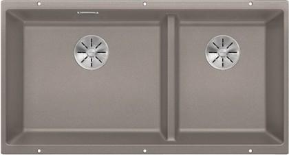 Кухонная мойка Blanco Subline 480/320-U, отводная арматура, серый беж 523591
