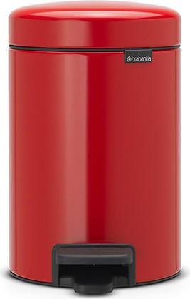 Мусорный бак с педалью 3л, пламенно-красный Brabantia Newicon 112140