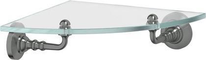 Полка для ванной угловая 3SC античное серебро, стекло STI 418