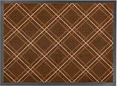 Коврик придверный 50x75см для помещения коричневые ромбы, полиамид Golze Homelike 1676-40-11