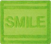 Коврик для ванной комнаты хлопковый 55x65см зелёный Spirella Ibiza Love Smile 1017820