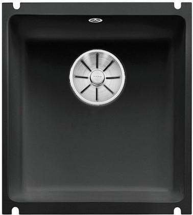 Кухонная мойка Blanco Subline 375-U, керамика, отводная арматура, чёрный 523732