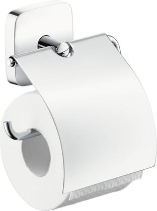 Держатель для туалетной бумаги с крышкой, хром Hansgrohe PuraVida 41508000