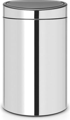 Ведро для мусора 40л, полированная сталь Brabantia Touch Bin 112881