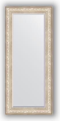 Зеркало с фацетом в багетной раме 70x160см виньетка серебро 109мм Evoform BY 3582