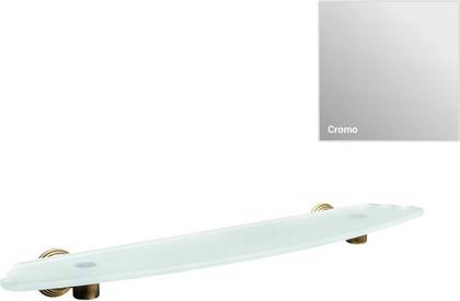 Полка для ванной 60см, хром/матовое стекло Colombo Hermitage B3316