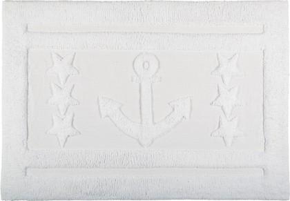 Коврик для ванной комнаты хлопковый 60x90см белый Spirella Anchor Star 1017658